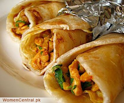 Chicken Paratha Recipe Chicken Paratha roll is very famous and delicious. Have you ever made Chicken Paratha Roll at home? If not, don't hesitate and try it now. It is very easy to make, cook chicken and fill along with chutny in paratha. Serve hot paratha with ketchup or tamarind sauce.