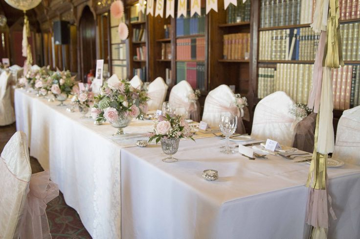 Wedding Breakfast Decorations - Ettington Park Hotel