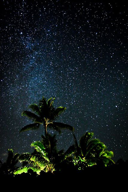 The Milky Way in Maui Hawaii (Seen this firsthand when visiting Maui on Haleakala the inactive volcano)