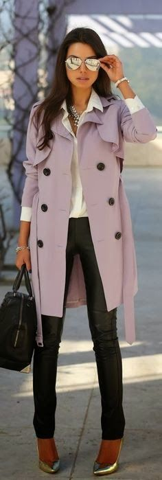 Lavender Trench on The Villa Alphie | Best Coats 2013
