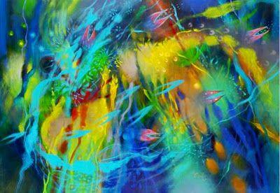 Obras Abstractas Pintura Artística al Óleo