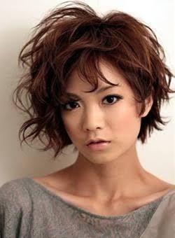 「アシンメトリー 髪型 女性 ミディアム」の画像検索結果