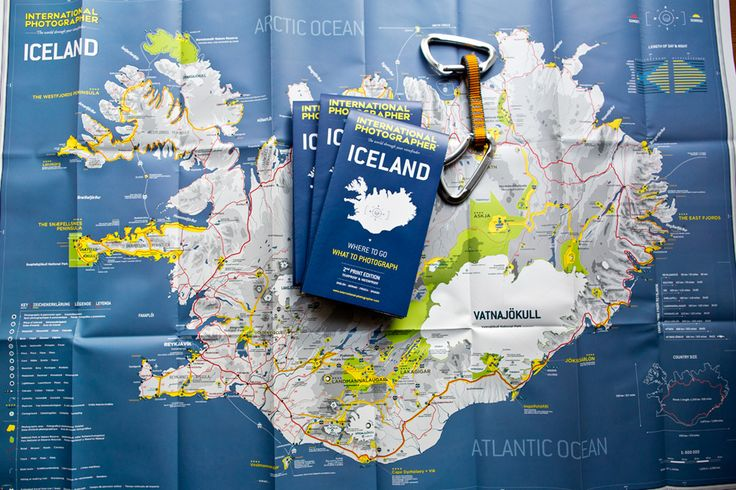 The best map of Iceland for photographers, hikers and tourists.