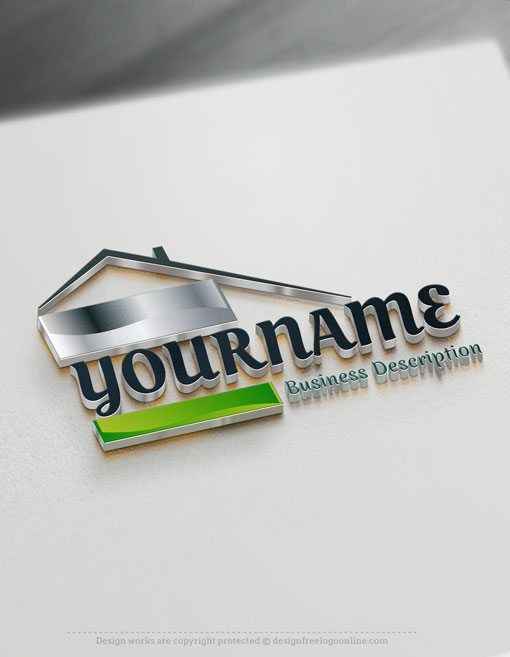 Design Free Online Real Estate Logo Ready-made Online Real Estate template logos for sale Decorated with an image of a villa house. This professional realty logos excellent for Architect, interior designer, Construction, Contractor, realty Agency etc.   How to design free logo online? 1- Customize This logo with our free logo maker tool - Change you company name, slogan, colors & fonts. 2- Like your design? Buy