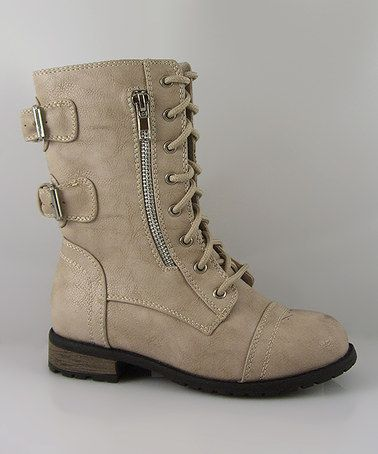 http://www.zulily.com/invite/vhanson979 Take a look at this Beige Mango Boot by Link on #zulily today!