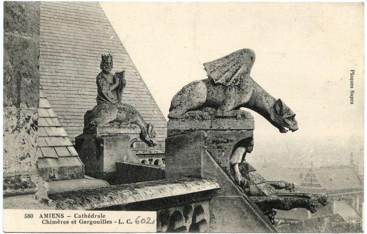 Amiens - Cathédrale - Chimères et Gargouilles