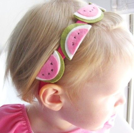 Adorable Watermelon Headband! DIY