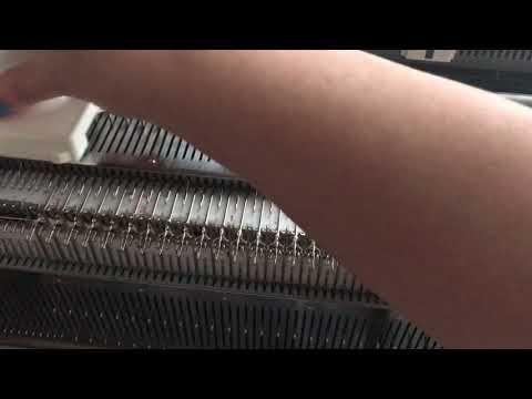 Вязание резинок,с использованием ПИ,каретки. - YouTube
