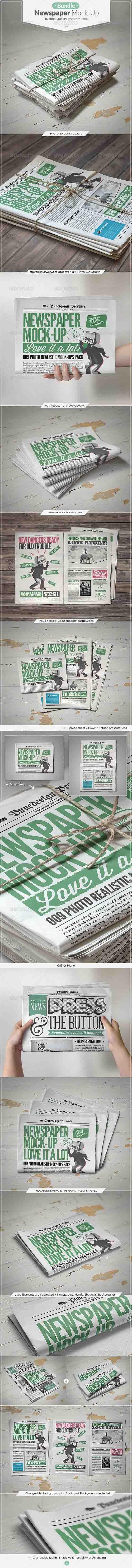 HeroGfx – Newspaper Mock-up Bundle » Free Special GFX Posts Vectors AEP Projects PSD Web Templates | HeroGFX.com