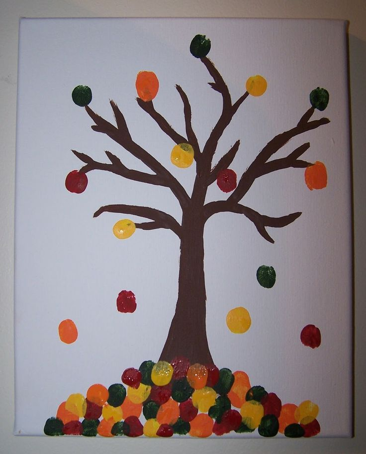 The Beautiful Budget: Fingerprint Fall Tree Canvas
