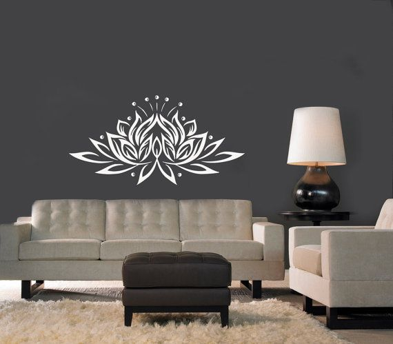 Hey, I found this really awesome Etsy listing at https://www.etsy.com/listing/208681642/wall-decal-yoga-lotus-flower-buddha