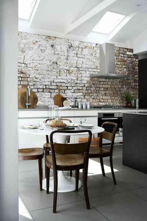 Les Meilleures Idées De La Catégorie Papier Peint Effet Brique - Papier peint pour salle a manger pour idees de deco de cuisine