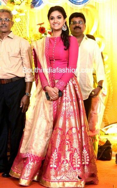 Keerthy Suresh in Banarasi Silk Lehenga