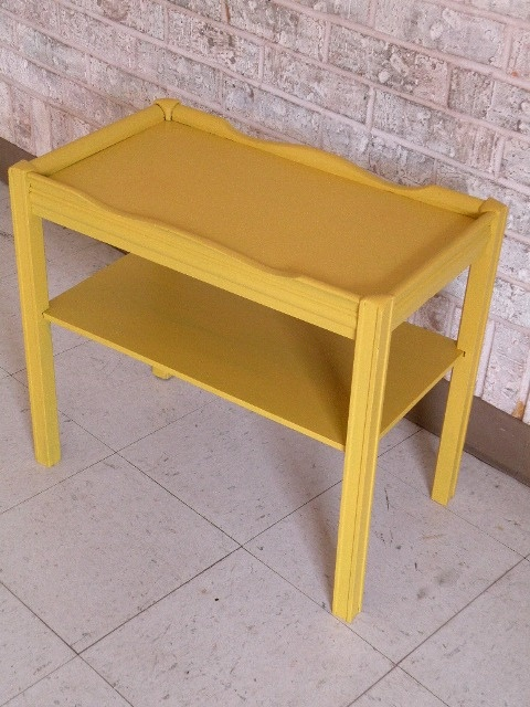 Adorable Mustard Color Side Table