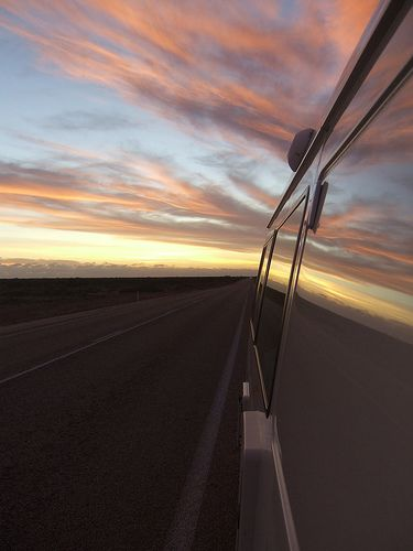 Sunset Reflection near Ceduna, South Australia.