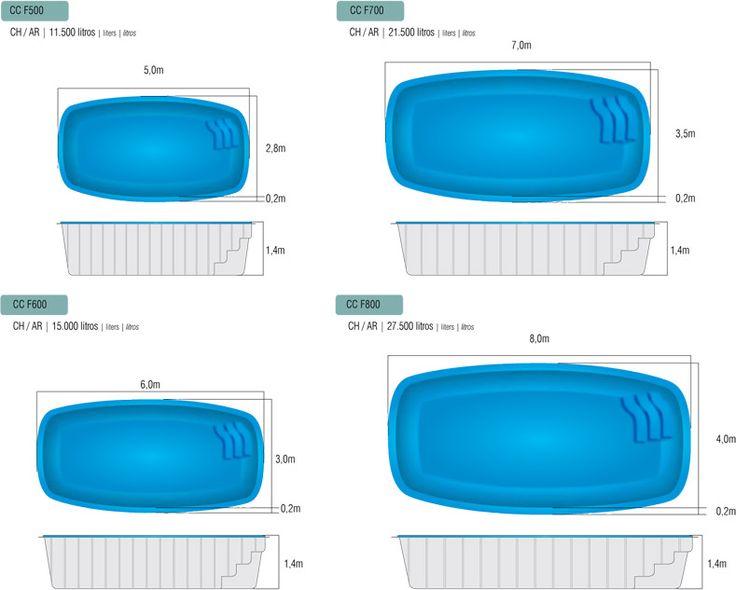 medidas piscina fibra pesquisa google swinnimg pool