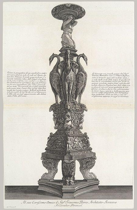 Giovanni Battista Piranesi: Newdigate Candelabrum: From Vasi, Candelabri, Cippi, Sarcofagi... (41.71.1.13.14) | Heilbrunn Timeline of Art History | The Metropolitan Museum of Art