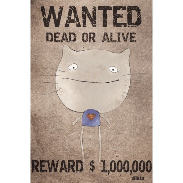 Wanted dead or alive - Postcards, Cat story
