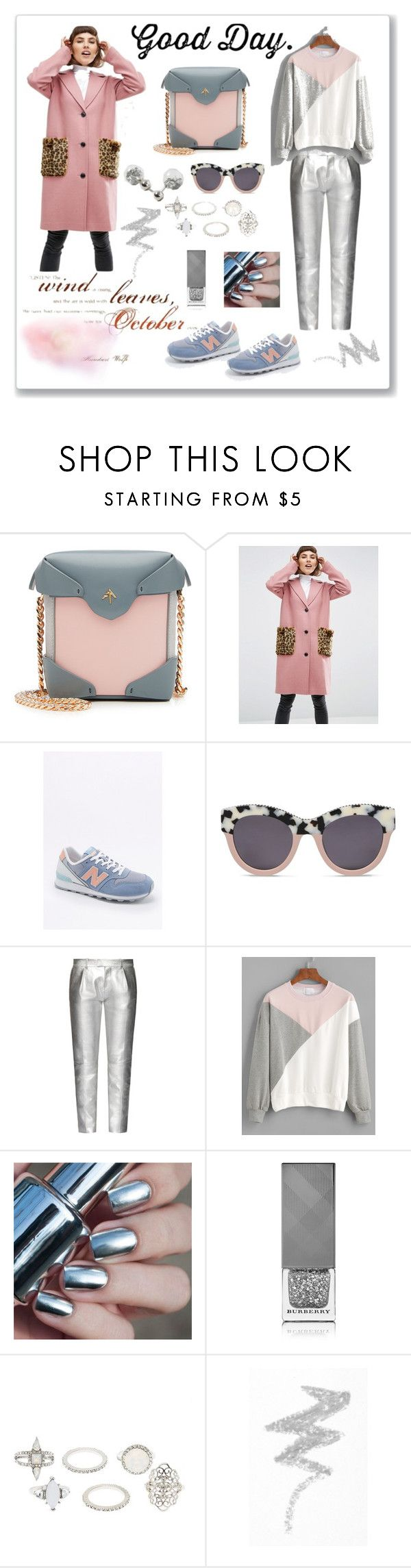 """Silver&arose"" by dilka-ylibka on Polyvore featuring мода, MANU Atelier, ASOS, New Balance, STELLA McCARTNEY, Tod's, Burberry, Charlotte Russe, NYX и Dorothy Perkins"