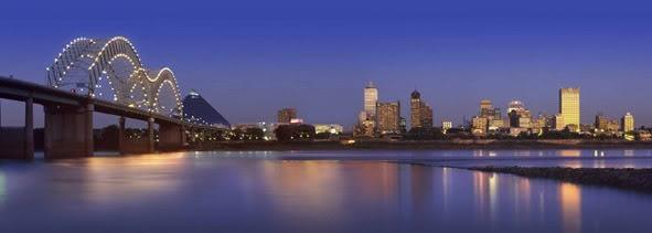 Memphis Skyline. I love crossing that bridge at night.