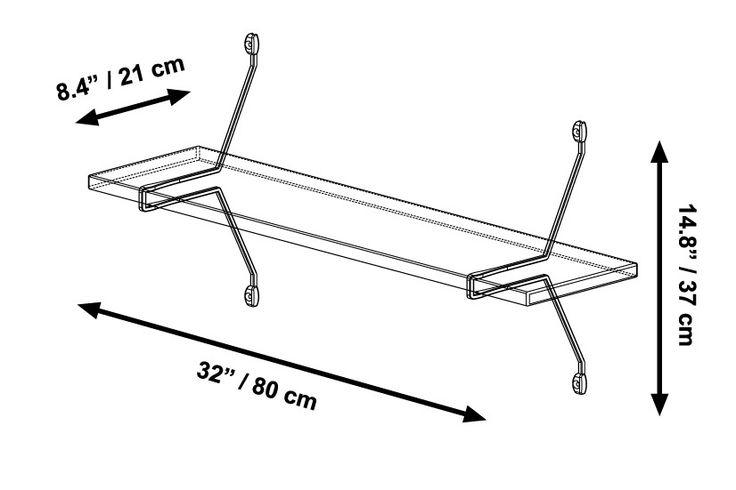 Single Bamboo Shelf with Diagonal Brackets