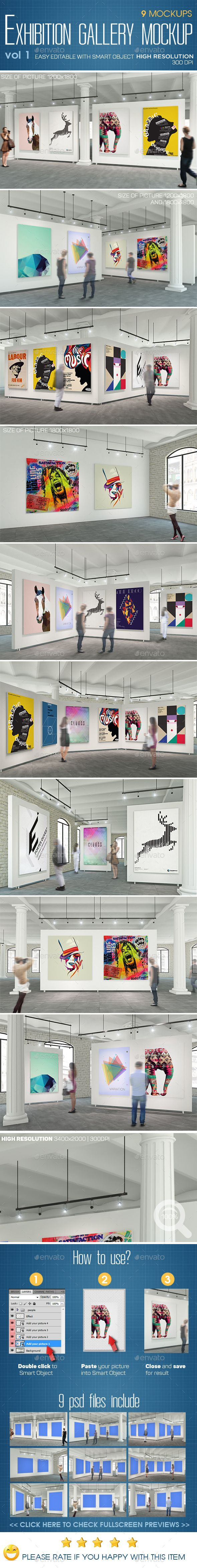 Exhibition Gallery Mockup #design Download: http://graphicriver.net/item/exhibition-gallery-mockup-v1/11686006?ref=ksioks