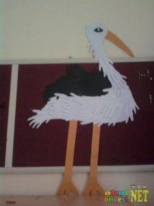 handprint stork craft