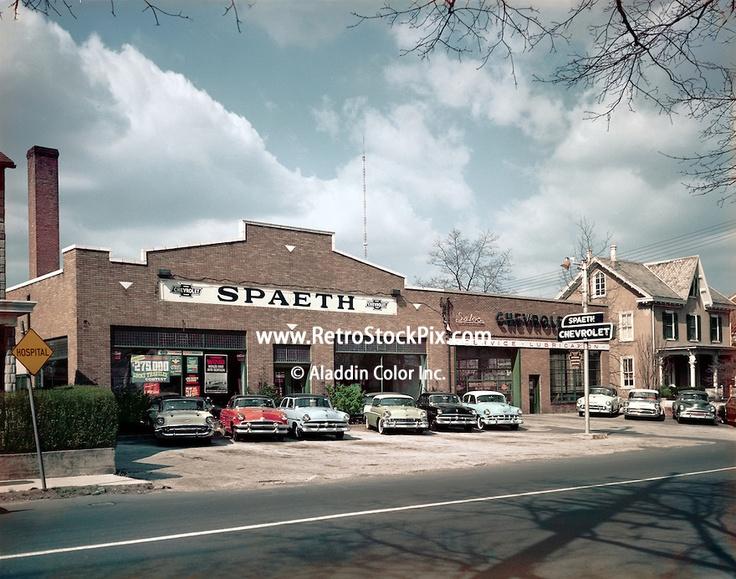 spaeth car dealership in 1959 retrostockpix