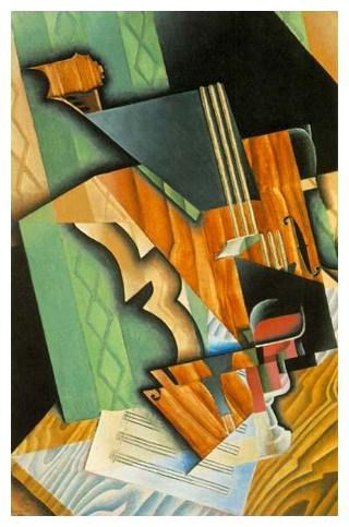 Juan Gris (1887-1927) Violin and Glass (oil on canvas, 1915) Fogg Art Museum, Harvard University