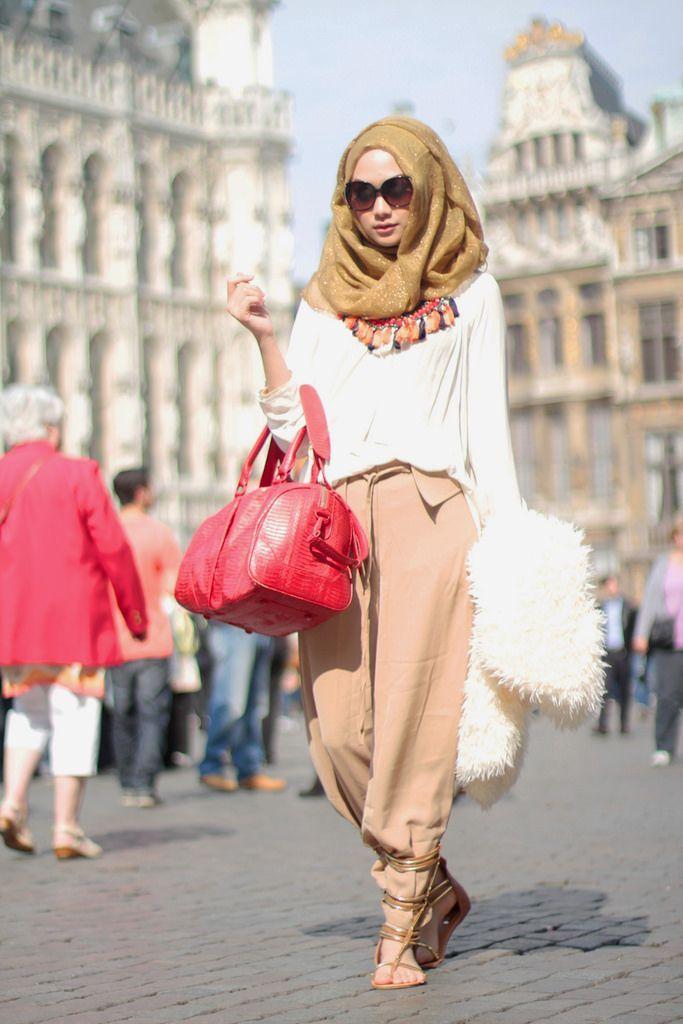 stylish & beautiful street hijab fashion for girls (3)