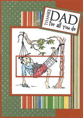 Stamp-it Australia: 4621E Lazy Dad, 4623C Thanks Dad - Card by Maxine