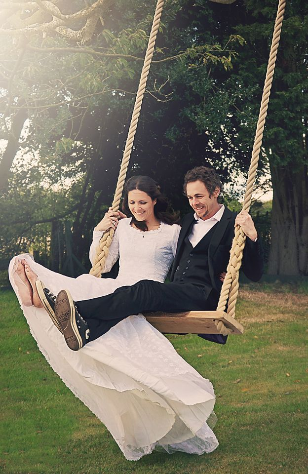 Wedding swing with Hempex Rope thevintageswingcompany.bigcartel.com