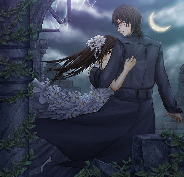 Kaname and Yuki from Vampire Knight.