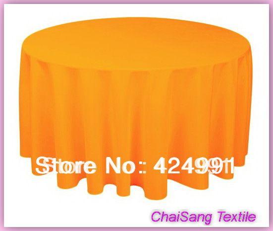 120 Orange210GSM Полиэстер равнина скатерть Для Свадьбы & Отель & Банкет