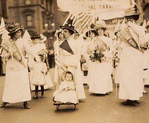 Desfile por el sufragio, ciudad de Nueva York, 6 de mayo de 1912
