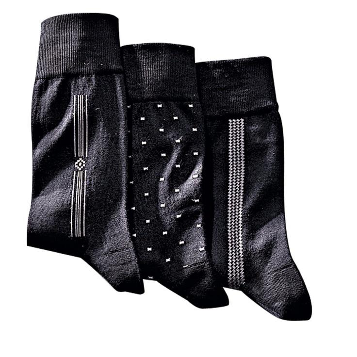 Pack of 3 Pairs of Men's 96% Cotton Lisle Socks, Men - La Redoute