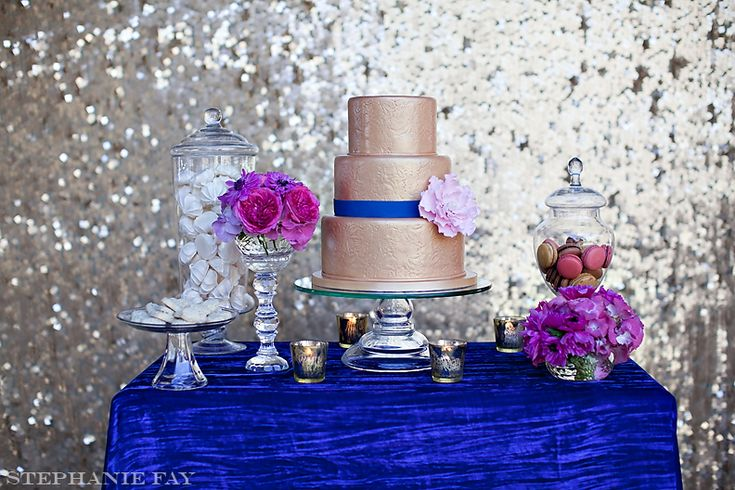 Fuchsia And Royal Blue Dessert Table Dessert Tables The