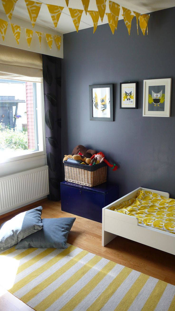 Yellow grey kids room ihan itte pinterest kid the banner and grey room - Grey and yellow room ...