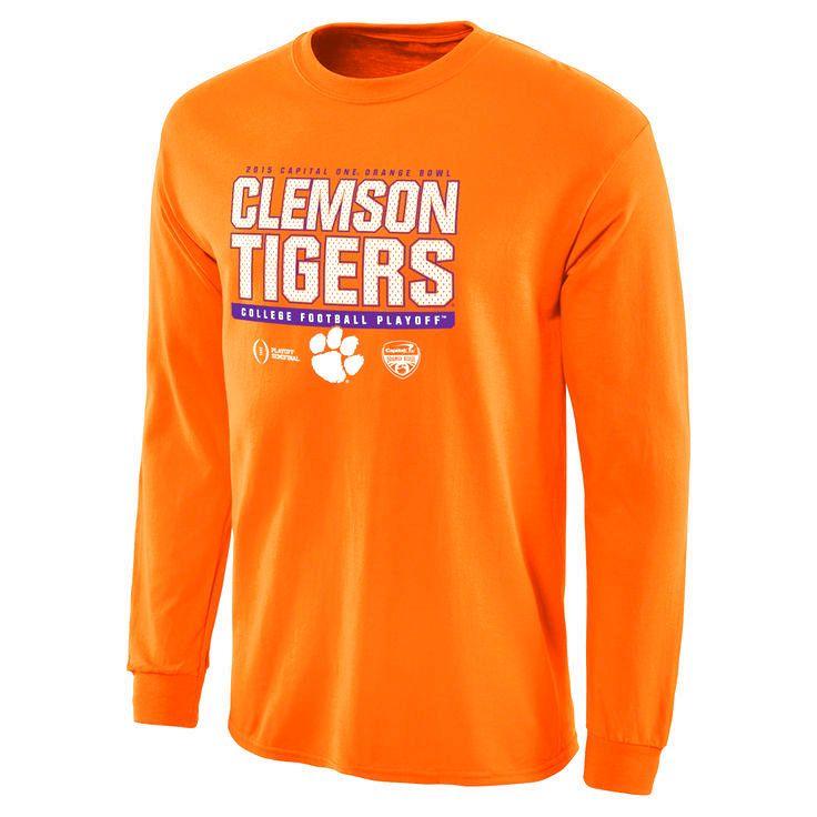 Clemson Tigers College Football Playoff 2015 Orange Bowl Bound Snap Long Sleeve T-Shirt - Orange - $18.04