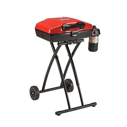 Coleman Sportster Propane Grill - Get your grilling game on with the Coleman Sportster Propane Grill. The collapsible, wheeled stand makes this grill easy to take wherever you need it. Once you're at your location, the lift and lock system makes it easy to securely set up. Hit the Instastart push-button ignition and get ready to ...