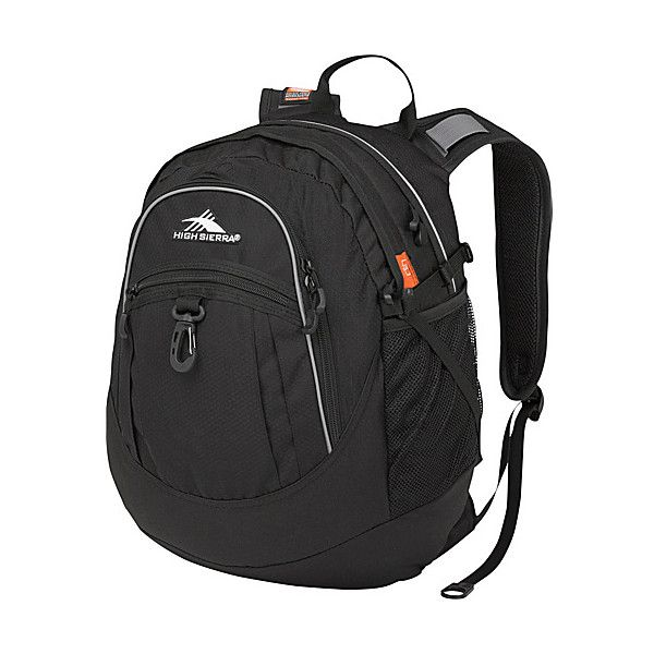 High Sierra Fat Boy Backpack - Black - School Backpacks (84 BRL) ❤ liked on Polyvore featuring bags, backpacks, backpack, black, school & day hiking backpacks, high sierra, polka dot backpacks, top handle bags, multi pocket backpack and day pack backpack