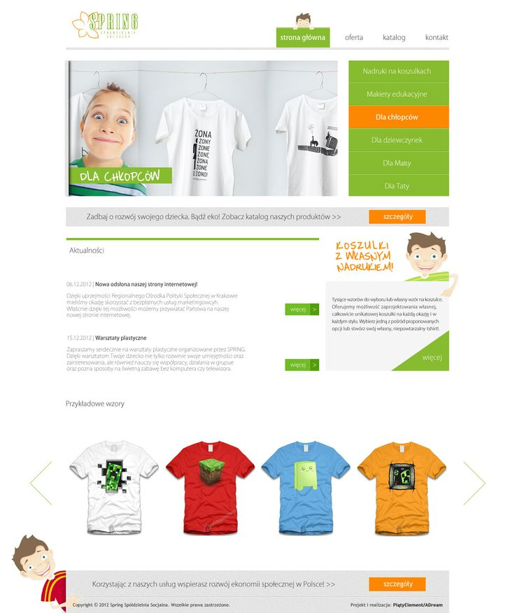 Spring - koszulki reklamowe