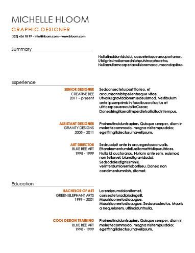 25+ unieke ideeën over Chronological resume template op Pinterest - chronological resume