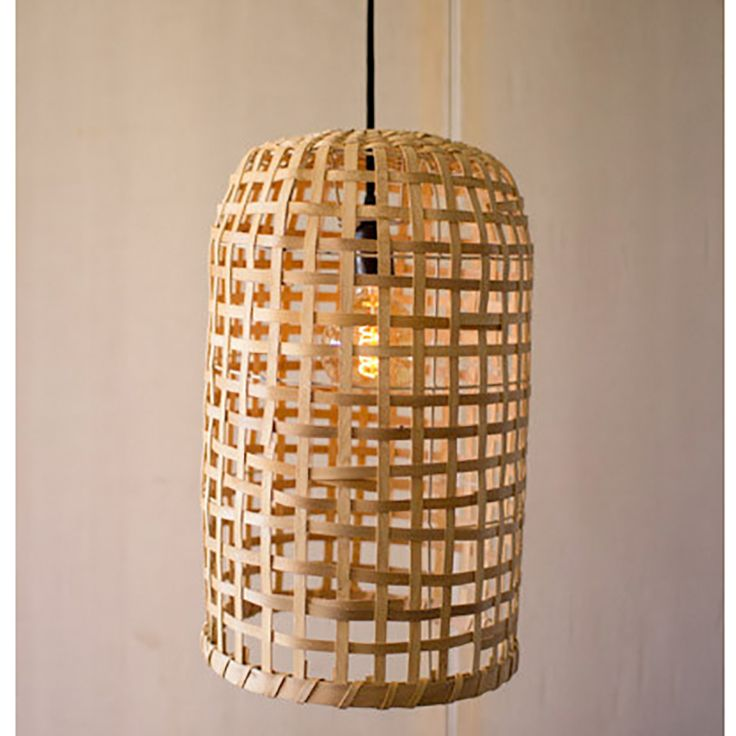 Split Wood Basket Pendants
