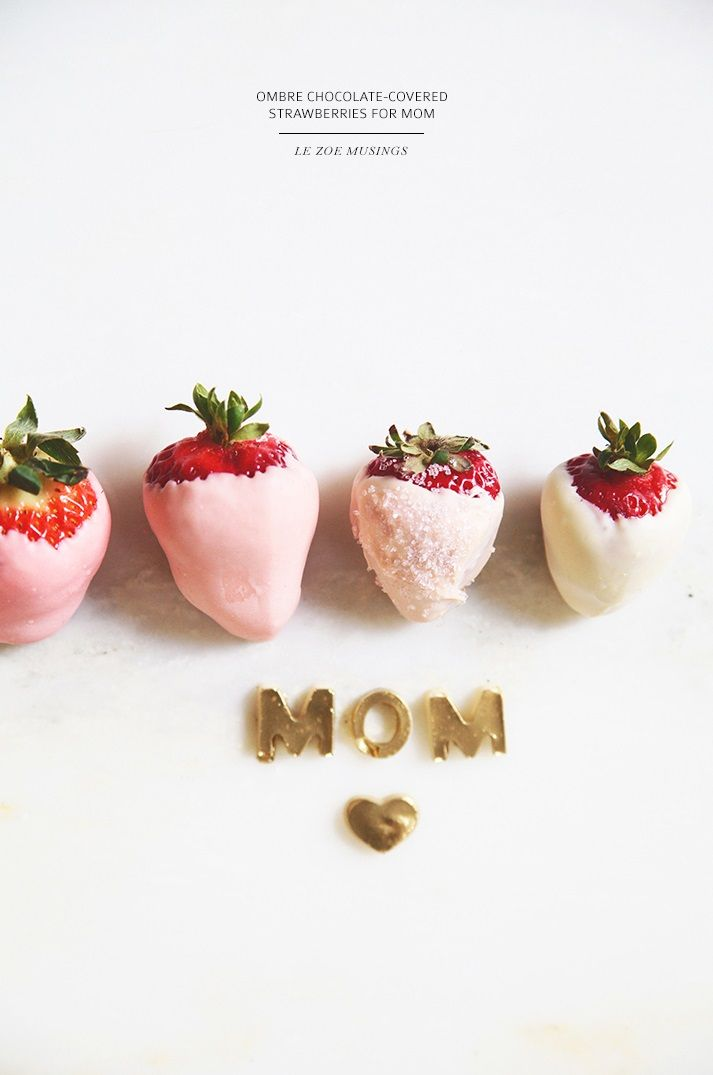 ... ombre chocolate-covered strawberries ...
