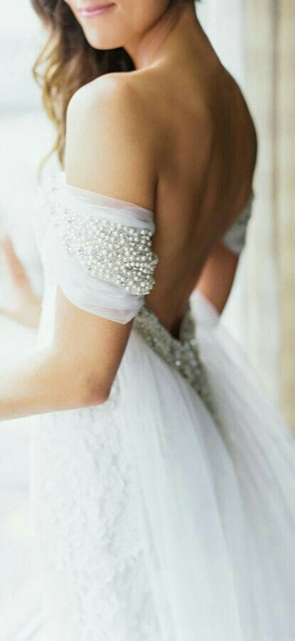 pearls and tule