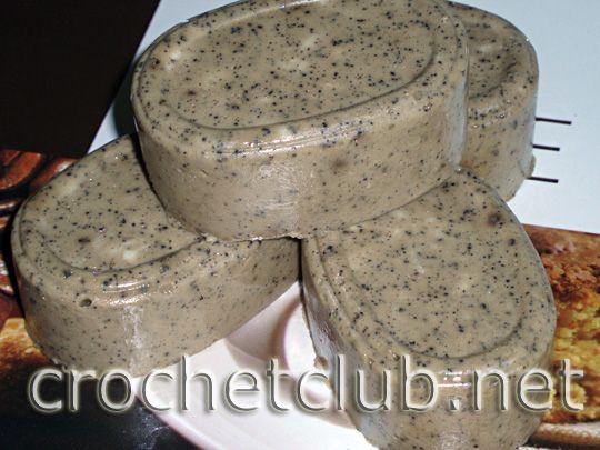 kávové peelingové mýdlo