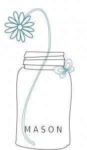 Daisy Mason Jar Embroidery Pattern