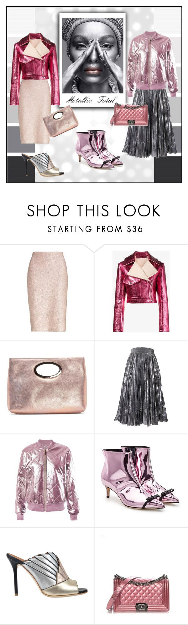 """""""All metals"""" by yaschy ❤ liked on Polyvore featuring St. John, Sies Marjan, Donald J Pliner, Sans Souci, Marco de Vincenzo, Malone Souliers, Chanel and metallic"""