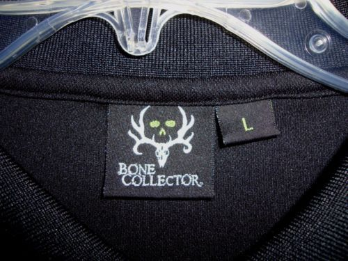 BONE-COLLECTOR-Digger-Black-Hunting-Michael-Waddle-Mens-Polo-Shirt-Size-L